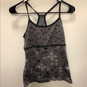 Patterned workout tank top size small
